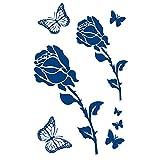 5 Hojas Pegatina De Tatuaje De Jugo Planta Rosa Mariposa Pegatina De Tatuaje Semipermanente Pegatina...