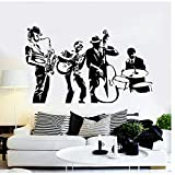 Música Vinilo Tatuajes de pared Banda Musical Pegatinas de pared Decoración Sala de estar...