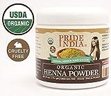 El orgullo de la India - Orgánica polvo de henna pelo, media libra