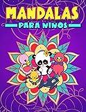 Mandalas para niños: Un bonito libro de colorear para principiantes con ilustraciones de animales...