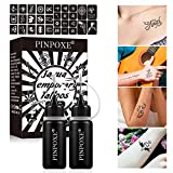 Kit de Tatuajes Temporales, Tinta para tatuaje, Tattoo Ink, Tinta para Tatuajes, Etiquetas Engomadas...