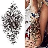 Diiya Tatuajes Temporales Adultos 3 Hojas Etiqueta Engomada del Tatuaje para Hombres Mujeres Niños...