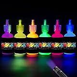 [6 X 28 ml.]iLC Pintura Corporal Pintar Neón Fluorescente Color UV Luz Negra Arte Fosforescente...