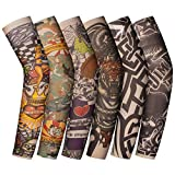 ANSUG 6 piezas mangas de tatuaje para niños mangas de tatuaje falsas temporales medias de...