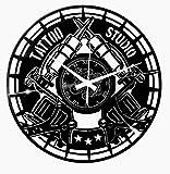 Instant Karma Clocks - Reloj de Pared Vintage Hecho a Mano, Tatuaje Tribal, Tienda, Estudio o...