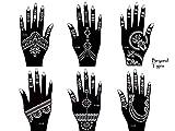 Beyond Tigris - Plantilla para tatuaje de jena, 6 unidades, diseños para un solo uso