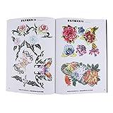 harayaa A4 40 Páginas Color Flor Boceto Referencia Tatuaje Libro Cuerpo Arte Pierna Espalda
