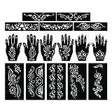 Parth Impex–Henna Tattoo Plantillas (Pack de 16) autoadhesivas pintura de cuerpo completo...