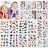 Tatuajes Temporales Para Niños Niñas, MOOKLIN 24 hojas Falso tatuajes Pegatinas tatuajes de...