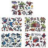 Qemsele Tatuajes Temporales Para Niños Niñas, 10 Sheets 200+ Pcs Hojas Dibujos animados Tatuaje...