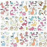 Tatuajes Temporales para Niños, Tatuaje Fluorescente, Dibujos Dinosaurio Tatuajes Temporales Kit,...