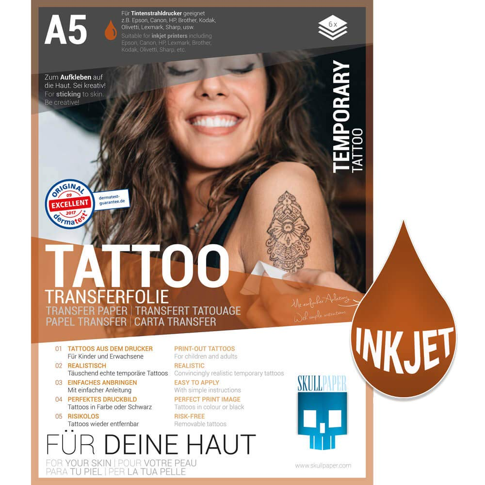 fogli per tatuaggi