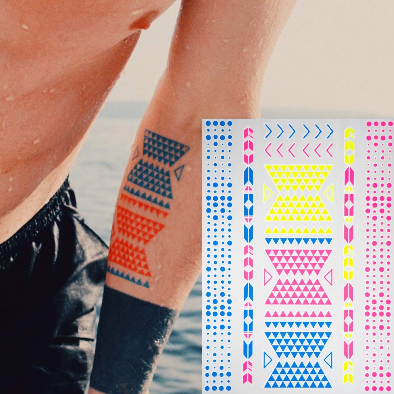 tatujes-temporales-fluorescente-fiesta