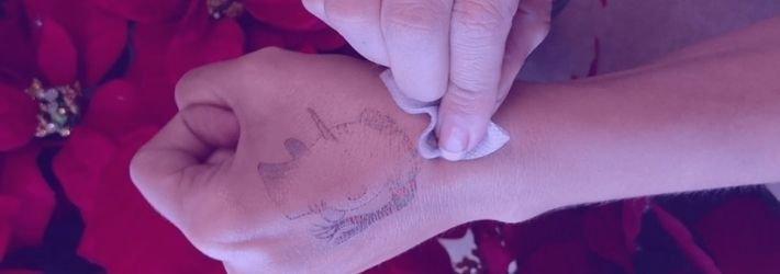 borrar tatuaje temporal